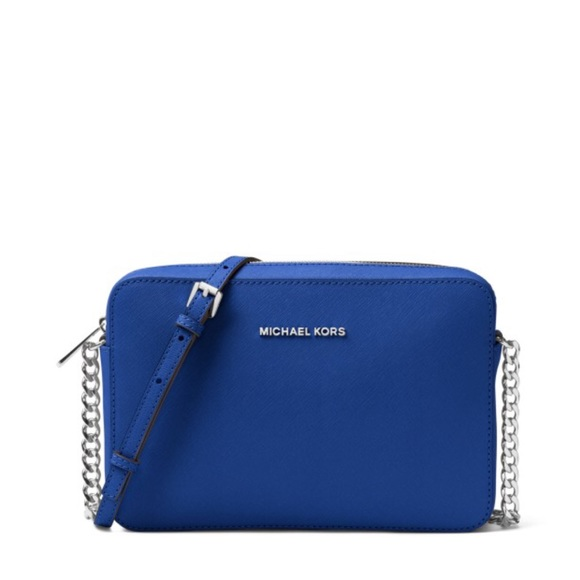 c340fe182c45 Michael Kors Bags | Saffiano Leather Crossbody Electric Blue Mk ...